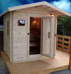 Garten Sauna Auf Einem Podest