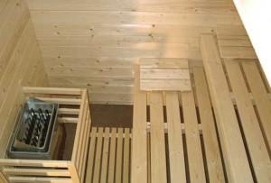 Sauna Rustica - Innenansicht